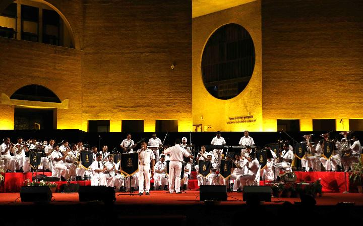 Indian Naval band performs at IIM Ahmedabad