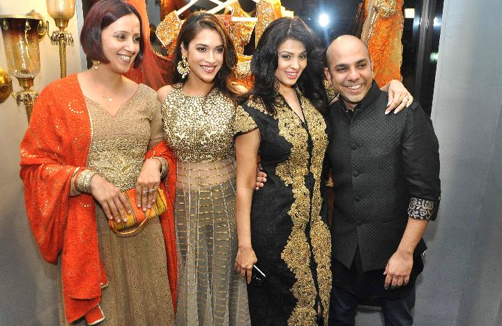 Indian fashion designer Mayyur Girotra's Store Launch in Mumbai