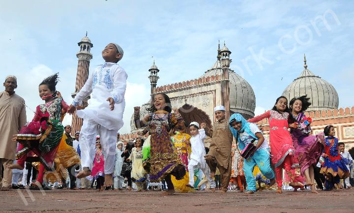 Muslims offer Namaz on occasion of Eid-ul-Fitr