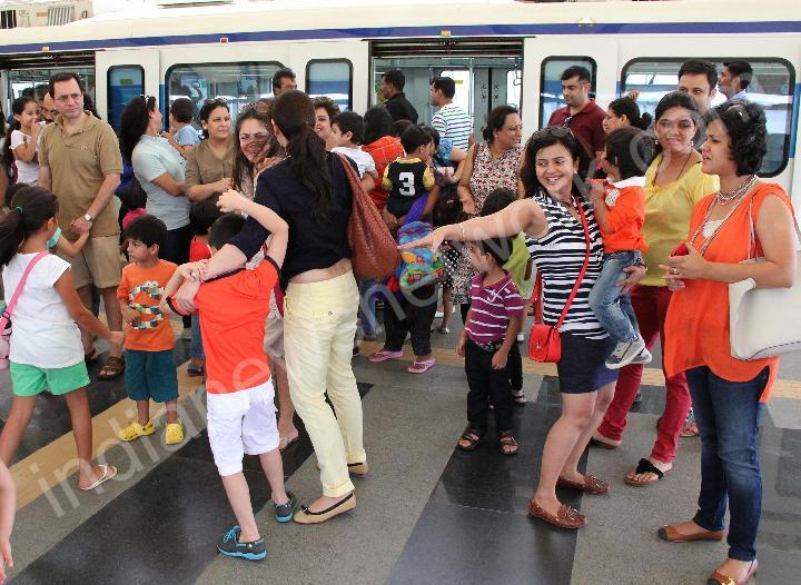 A ride for children by Rapid Metro