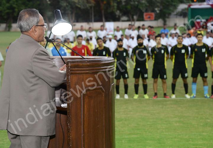 Final match of Rashtrapati Bhavan Football Tournament